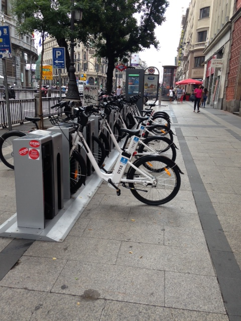 Public Bicycles Protected by Key-Rex® Security Nuts