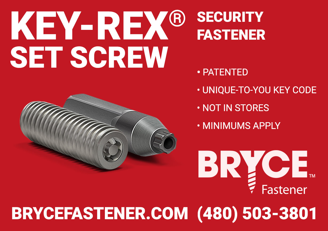 Key-Rex® Set Screw Security Screws