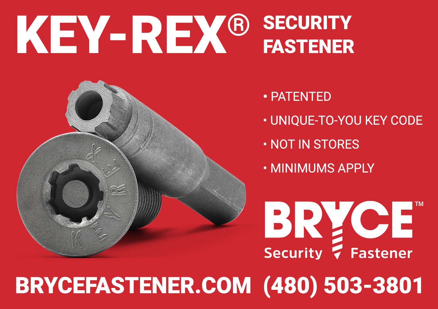 Key-Rex® Theft-Proof Fasteners