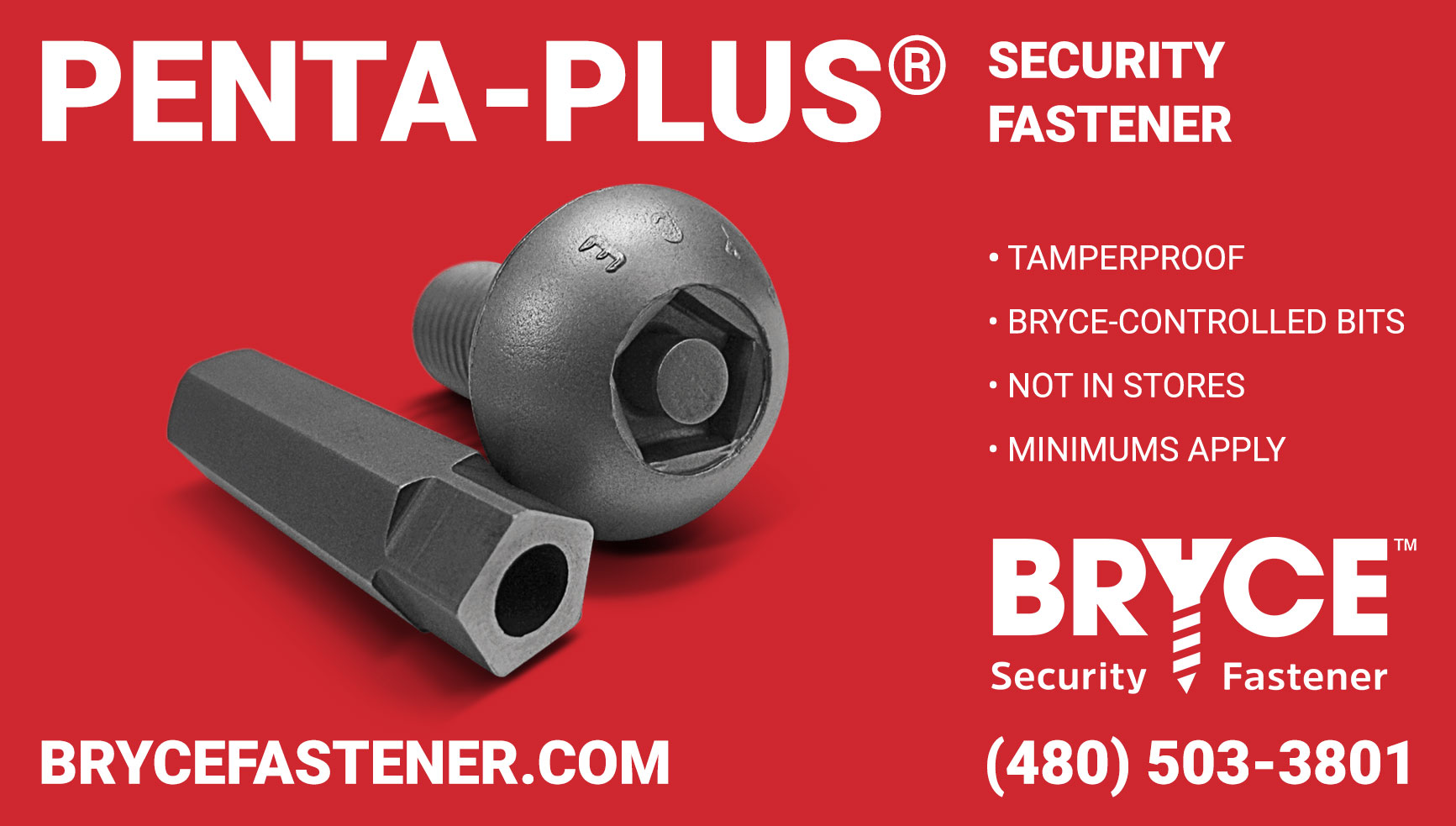 Penta-Plus® Theft-Proof Bolt Fasteners