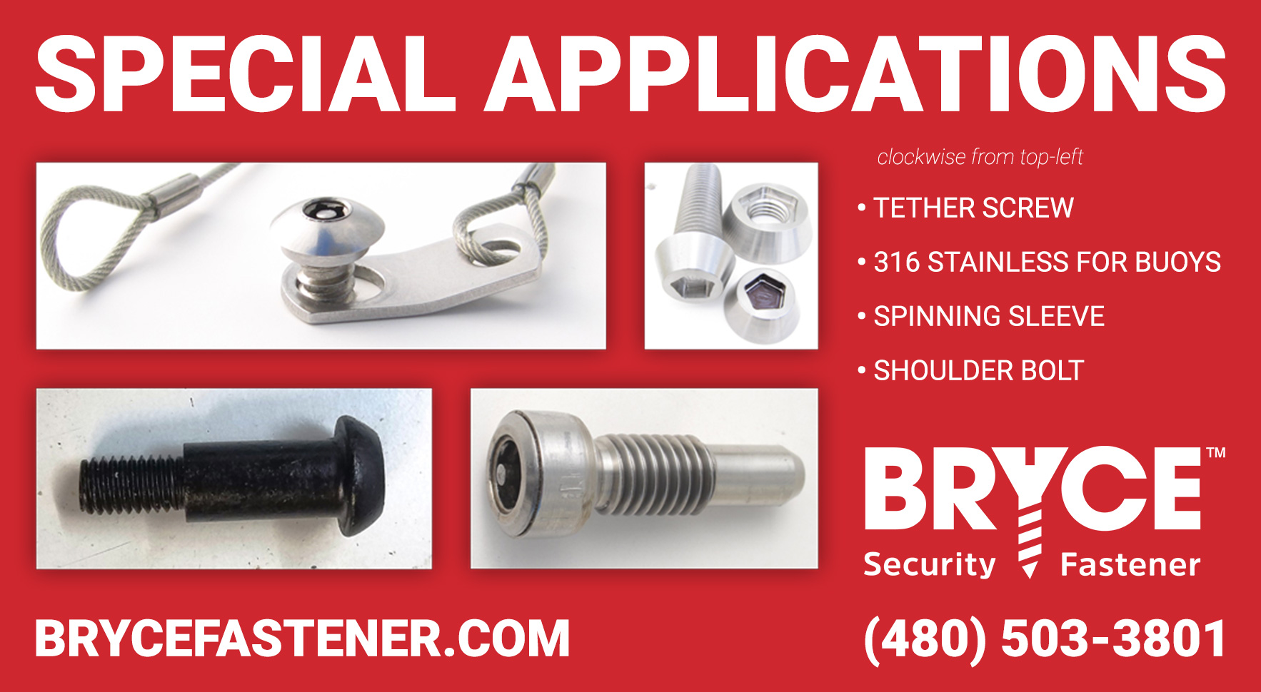 Special Applications Security Fasteners